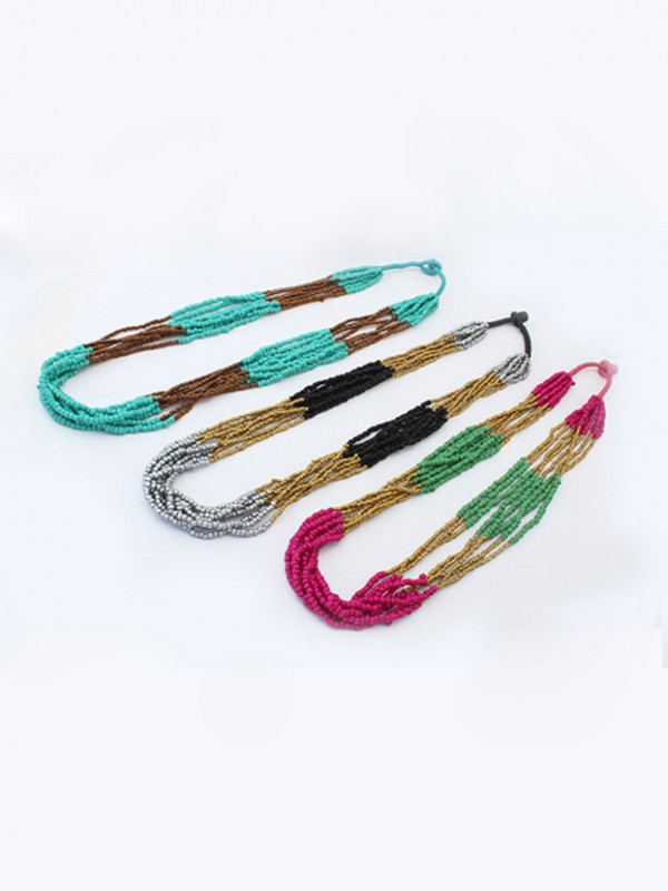 Fashion Trends Occident Exotic Multi-layered Seed Hot Sale Necklace