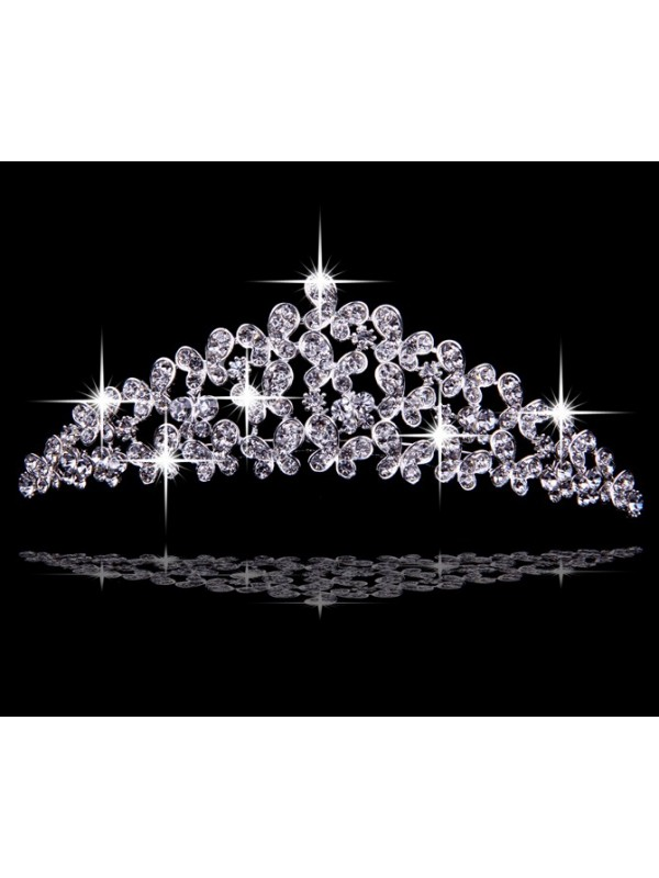 Very Nice Alloy With Czech Rhinestones Wedding Headpieces