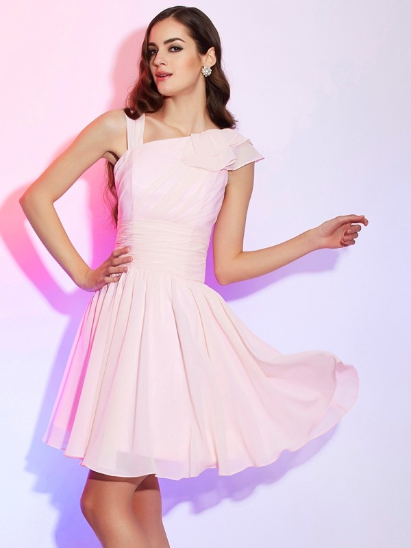 A-Line/Princess Chiffon Sleeveless Short/Mini Dresses