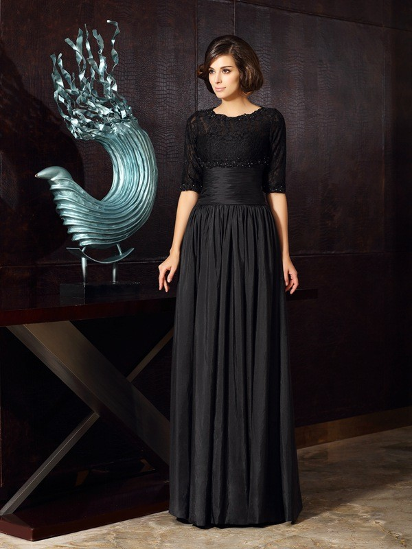 A-Line/Princess Sweetheart Taffeta Sleeveless Floor-Length Mother of the Bride Dresses