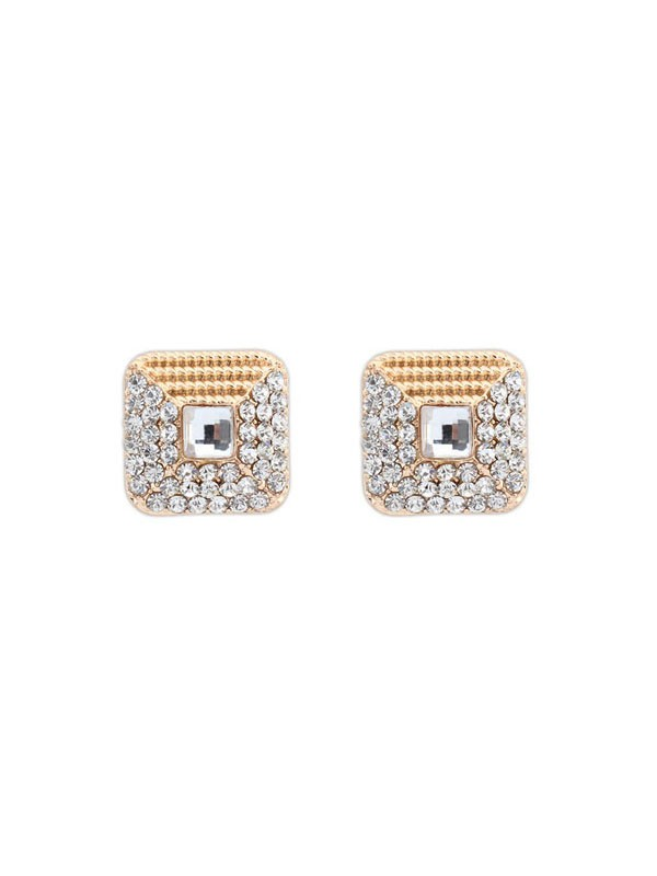 Occident Exquisite Rhinestone Stud Hot Sale Earrings